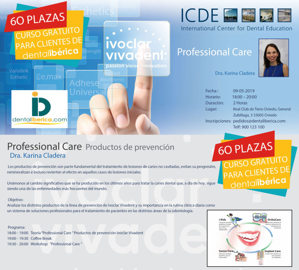 Curso Profesional Care Productos de prevención