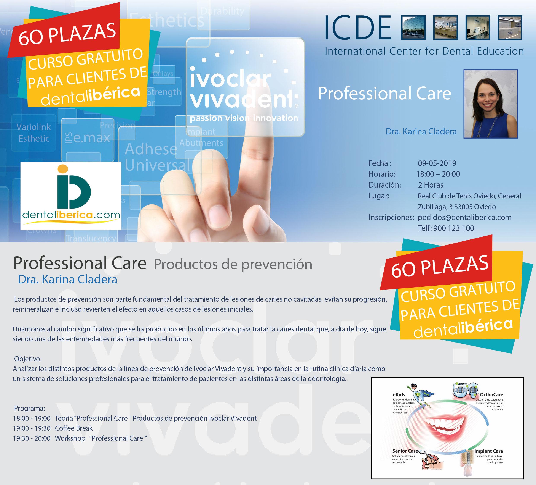 Curso Profesional Care Productos de prevención